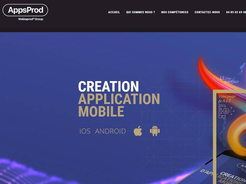 Application mobile par Webiaprod