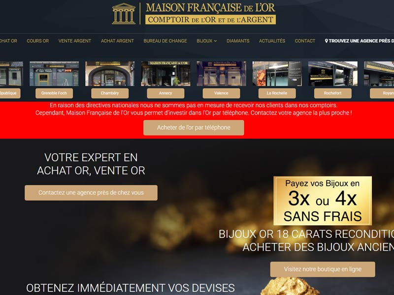 Comptoir Maison Française de l'Or