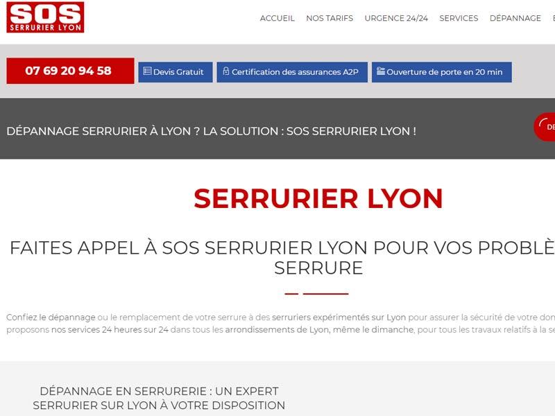 Serrurier d'urgence Lyon – Devis en ligne